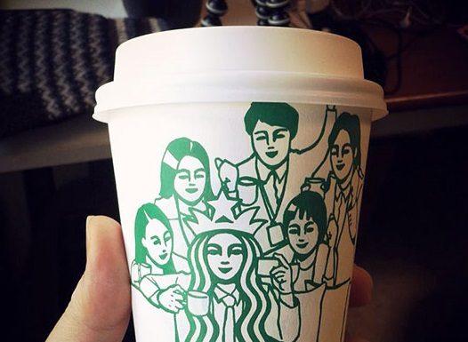Soo Min Kim premieňa kultovú Starbucks pannu na nové postavičky 24