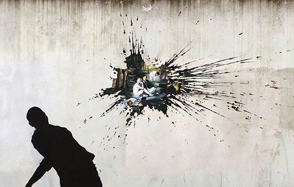 Španielsky umelec Pejac šíri poetické street umenie v európskych mestách 16