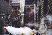 Eliška Podzimková a jej ilustrácie na fotografiách mesta New York 2