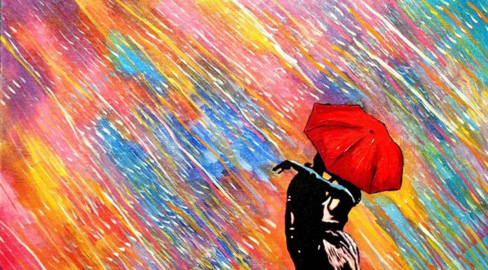 Slepý umelec vytvára tieto krásne farebné obrazy 2
