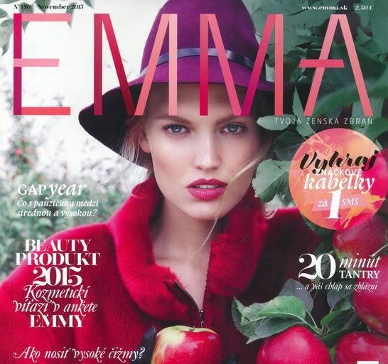 Krásna Miss Slovensko 2012 Kristína Krajčírová žiari na titulnej strane magazínu EMMA 7