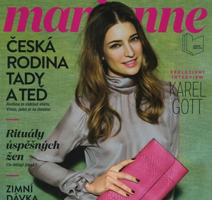 Slovenská topmodelka Linda Nývltová pózovala na titulnej strane magazínu Marianne 2
