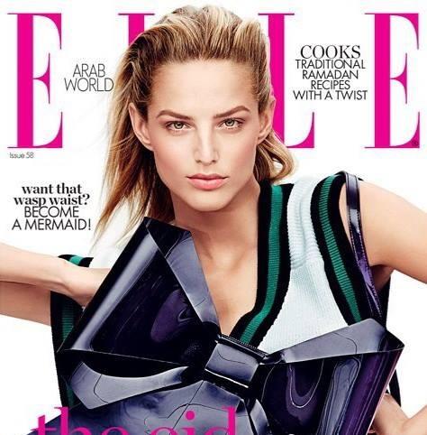 Krásna slovenská topmodelka Michaela Kocianová na titulnej strane ELLE Arabia 2